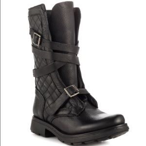 Steve Madden Bounti Black Leather Boots size 6.5